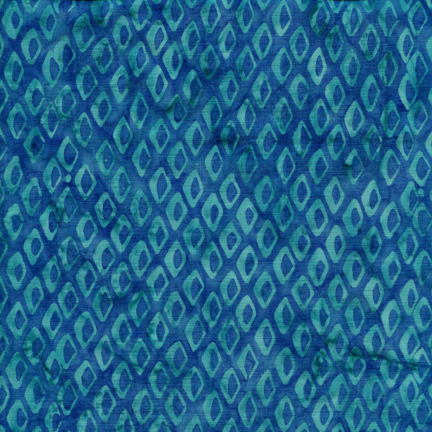 Fish Scales Batik Fat Quarter - Bluebird Ocean Odyssey Collection by Island Batik Fabrics