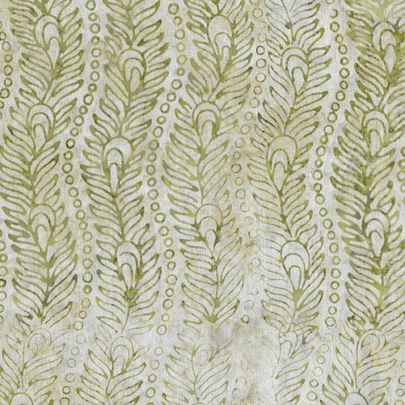 Venetian Marble - Wavy Peacock Feather Batik - Hay