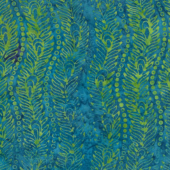 Wavy Peacock Feather-Dark Lagoon - Peacock Galore