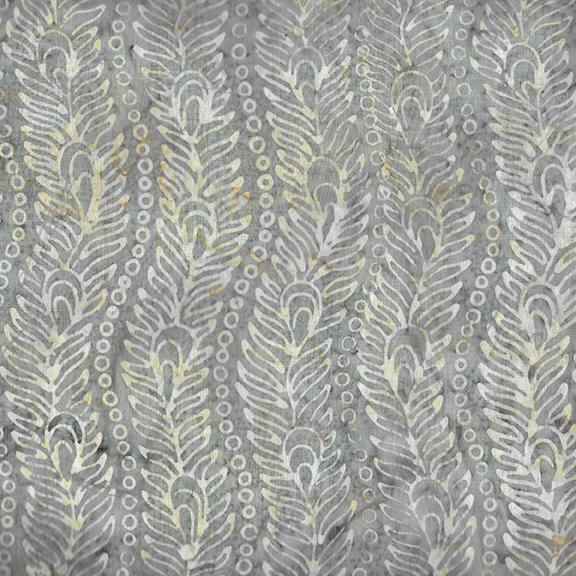 Venetian Marble - Wavy Peacock Feather Batik - Shark