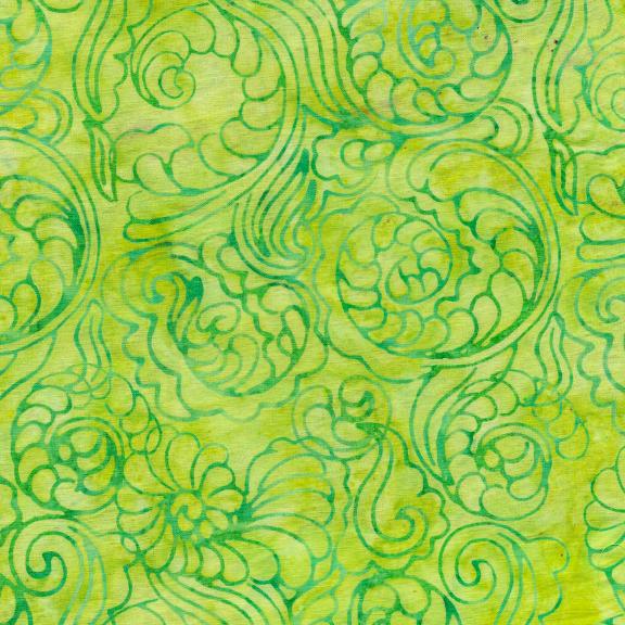 Island Batik - Foulard Swirl-Lemongrass
