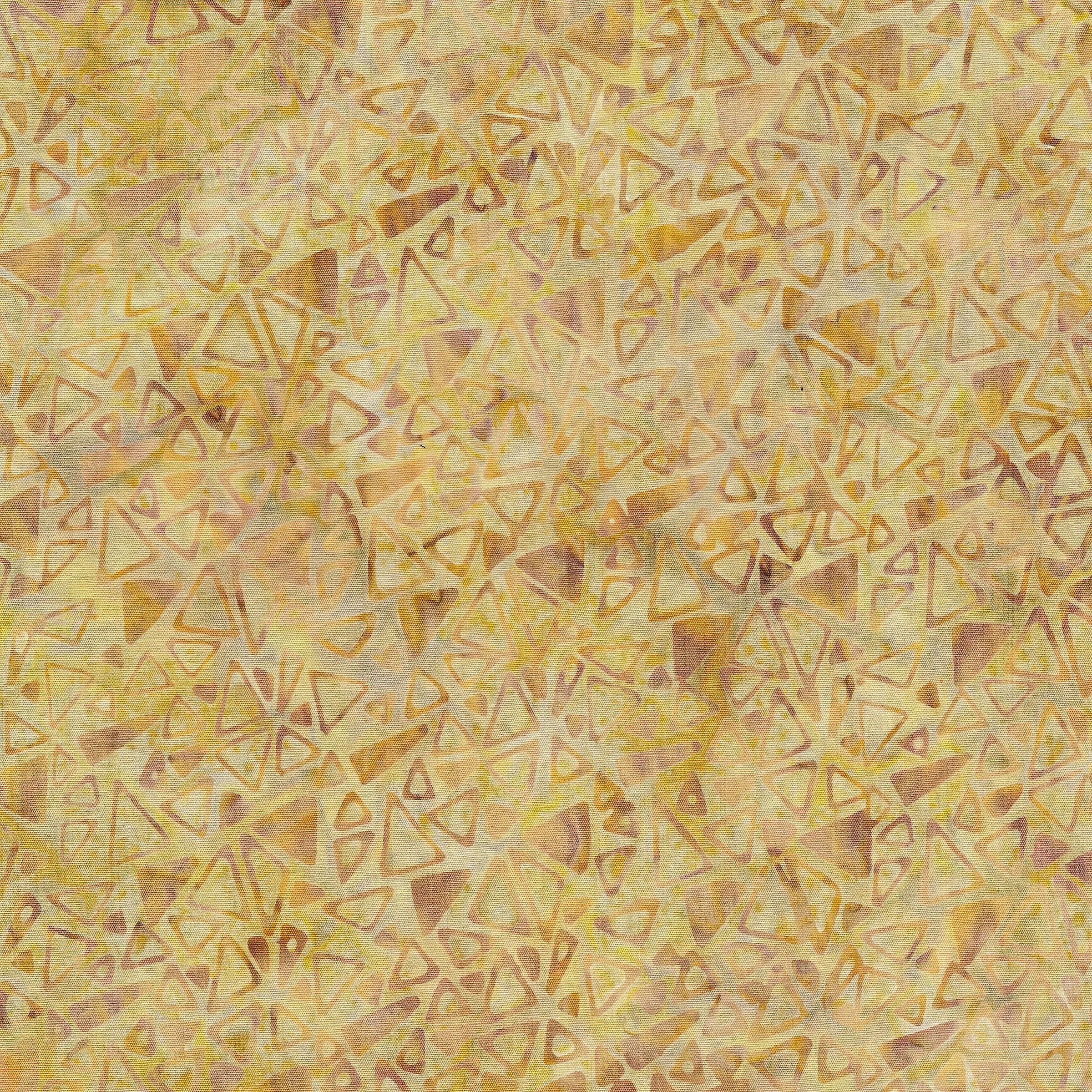 IB- Tossed Triangles Wheat Batik