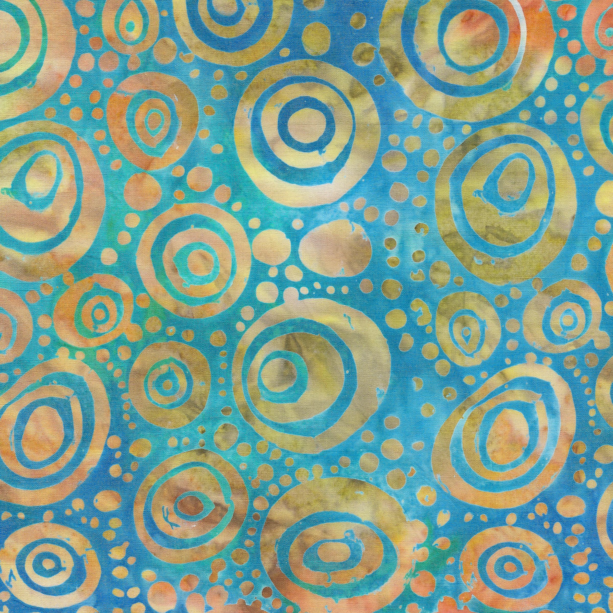 Island Batik Circles -Teal 821801561