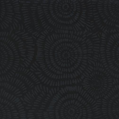 Island Batik Dandelion - Black