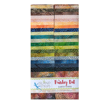 Paisley Dot Earth Tones 40 Strips