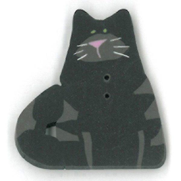 Button JAB Cat Black Large