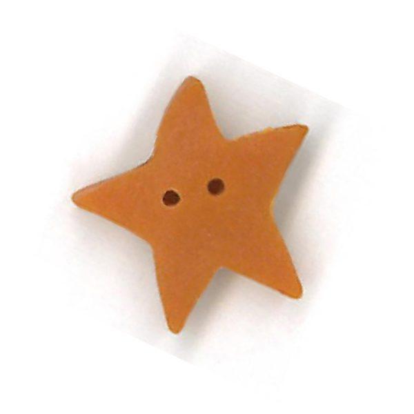 Large Apricot Star JABC button #3315.l