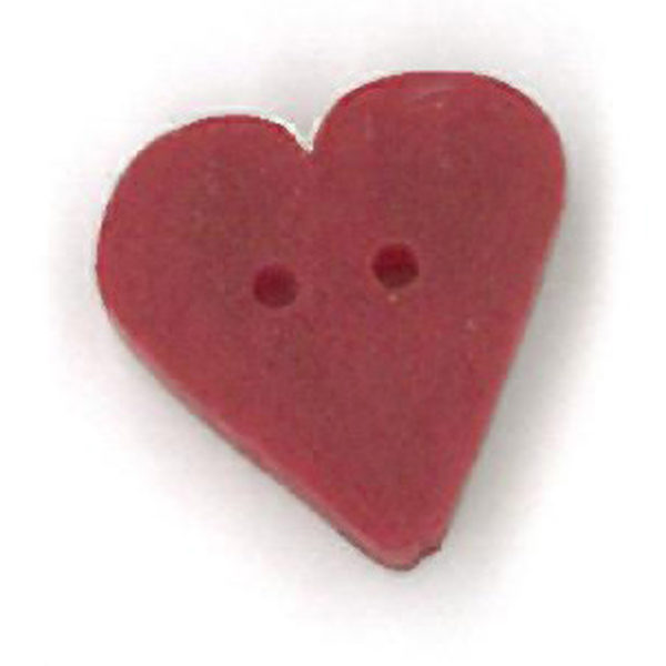 Button JAB Heart True Red Small