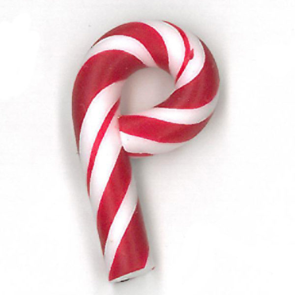 Button JAB Candy Cane Small