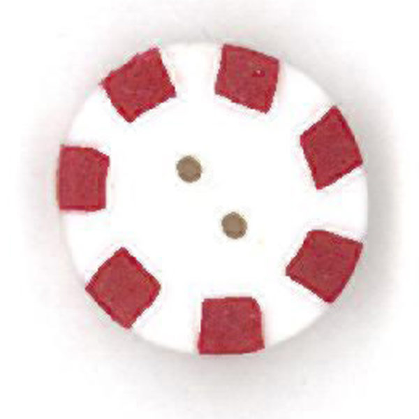Button JAB Candy Red Peppermint Small