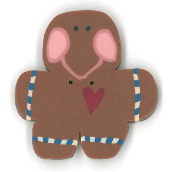Button JAB Gingerbread