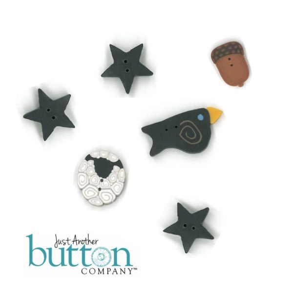 Button JAB Little House Needleworks Heart of America Button Pack