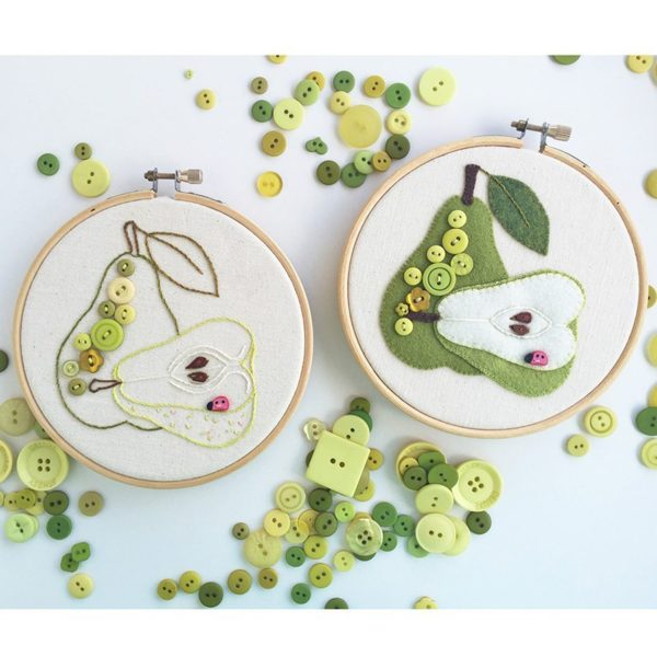 JABC Juicy Pear Embroidery and Applique Pattern