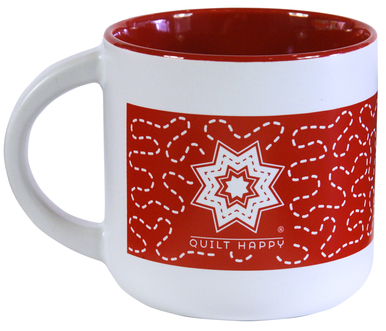 Quilt Around Mug - Red