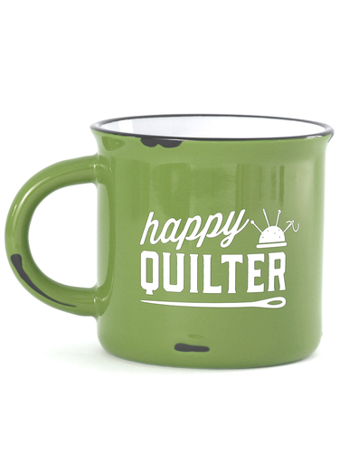 Happy Quilter - 15 oz Camp Mug Lime