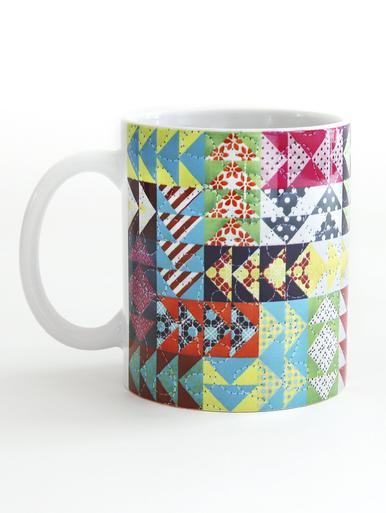Quilt Happy Modern Flying Geese Mug - 11 oz