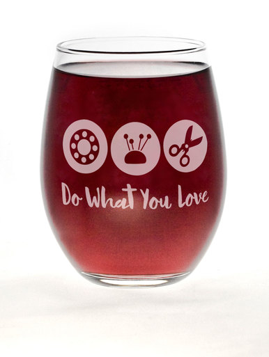 Wine Glass - Love What You Do Barrel Glass
