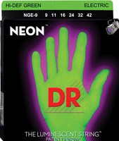 DR Neon Hi-Def Green Electric Guitar Strings 9-42