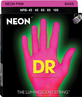 DR 1-NPB-45 Neon Pink Bass Stringset