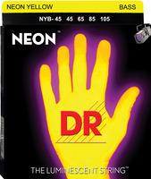 DR 1-NYB-45 Neon Yellow Bass Stringset