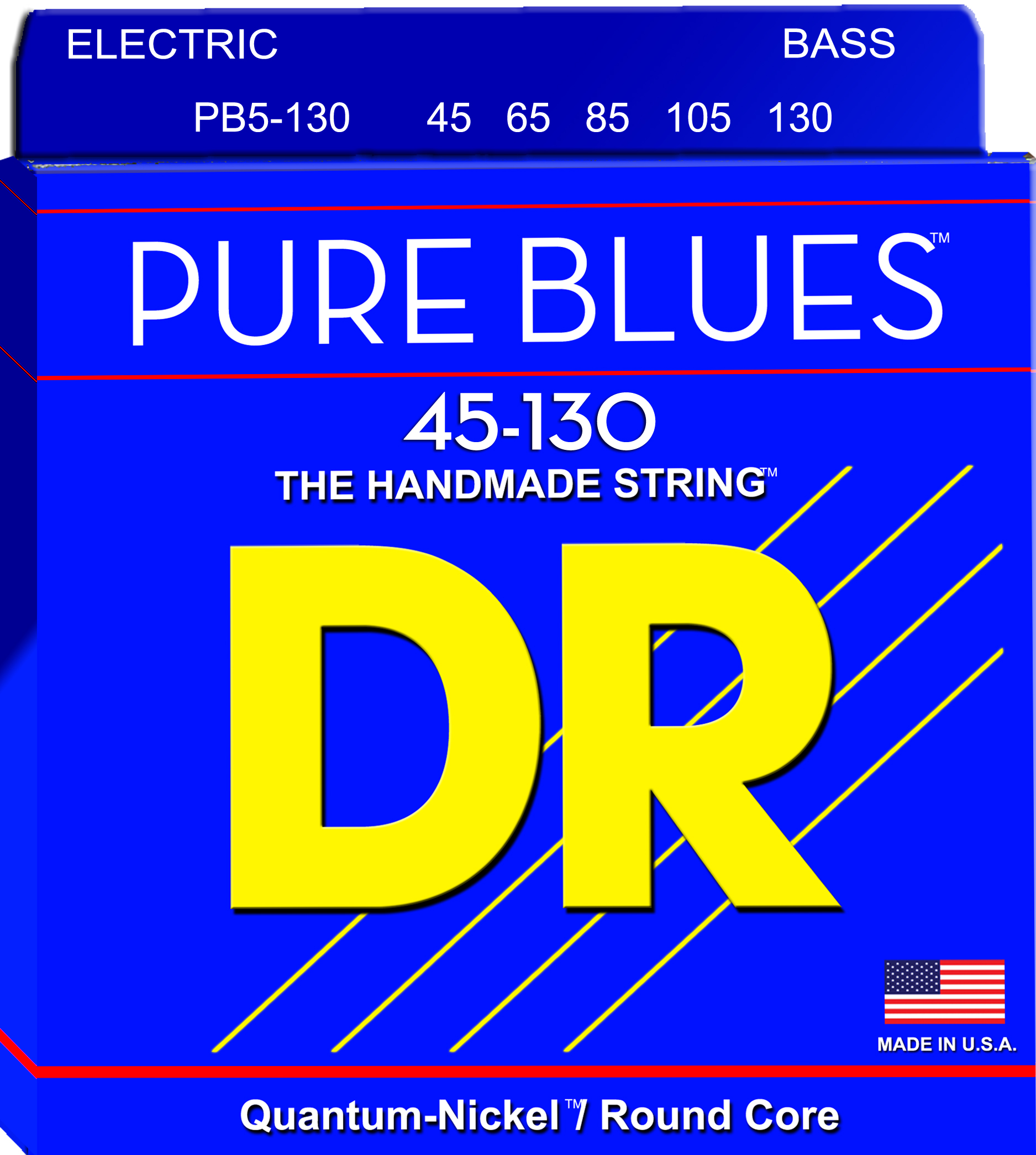 DR 1-PB5-130 Pure Blues 5 String Electric Bass Stringset