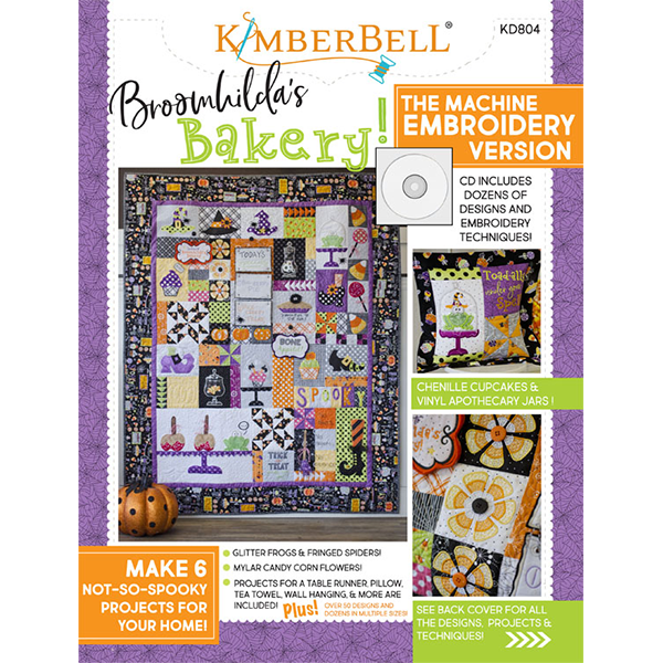 Broomhilda's Bakery Embroidery CD and Book