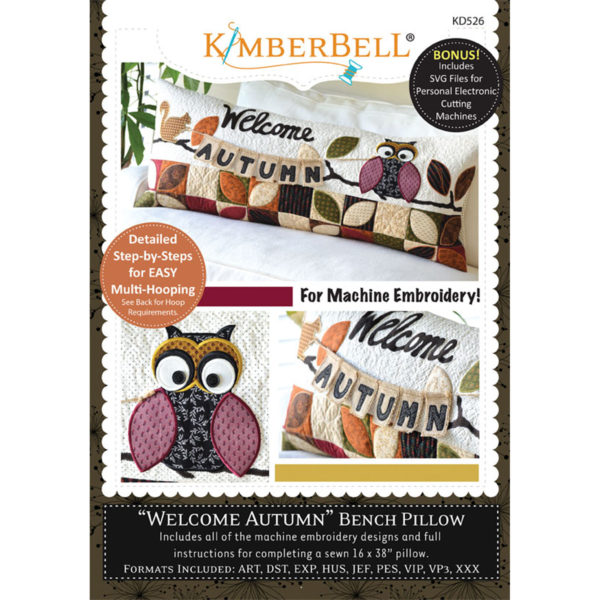 CD KimberBell Autumn Bench Pillow