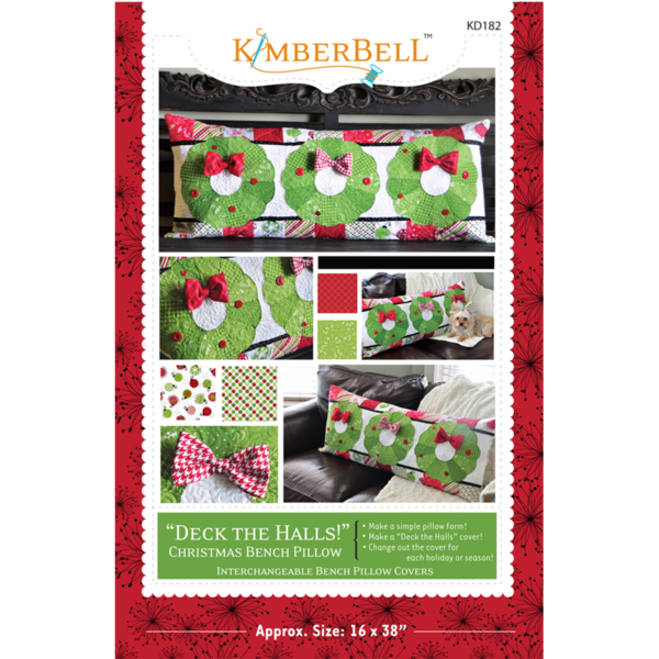 Deck the Halls! Christmas Bench Pillow for Sewing