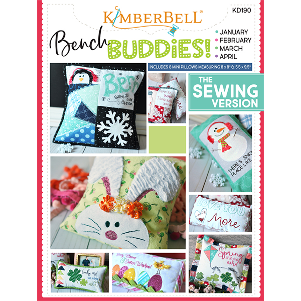 Bench Buddies Series (January February March April) Sewing Book...