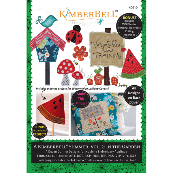 KD510 Machine Embroidery CD: A Kimberbell Summer, Volume 2: In the Garden