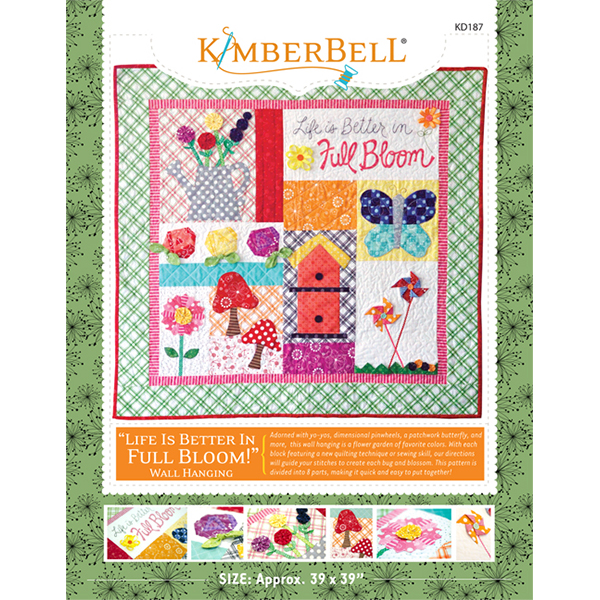 Kimberbell Life Is Better In Full Bloom, Block-of-the-Week