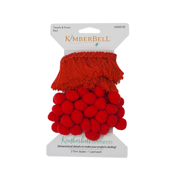 Tassels and Poms Trim - Red