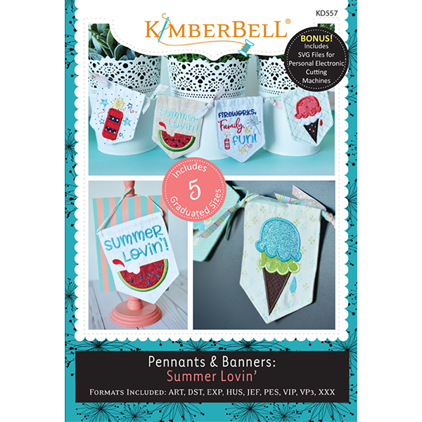 CD KimberBell Pennants & Banners: Summer Lovin'