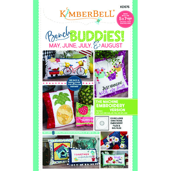 ?BENCH BUDDIES SERIES (May, June, July, August) MACHINE EMBROIDERY CD - Kimberb...