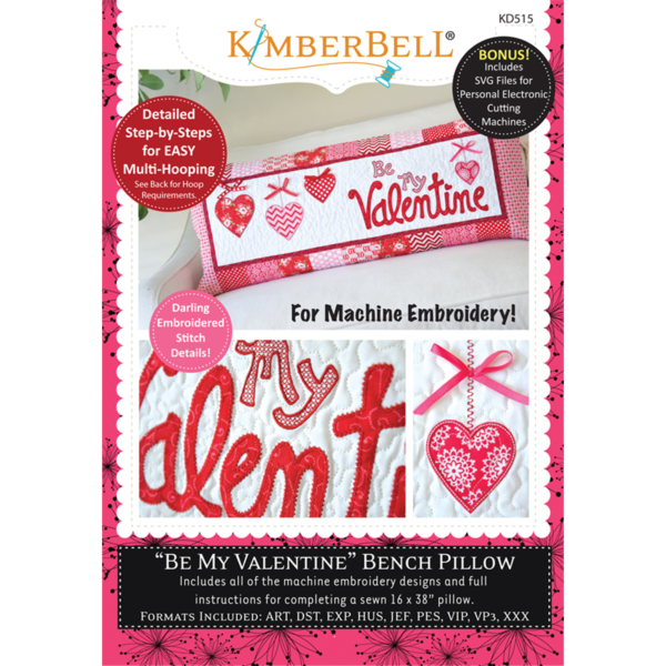 KIMBERBELL BE MY VALENTINE BENCH PILLOW