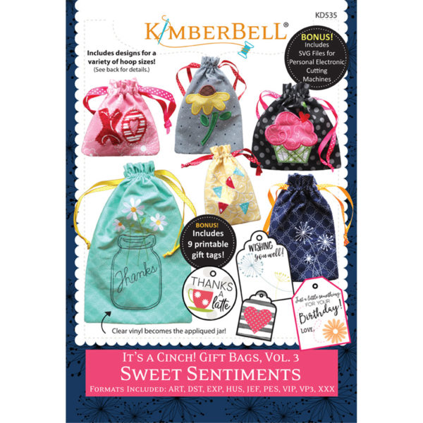 KIMBERBELL IT'S A CINCH GIFT BAGS VOL. 3 SWEET SENTIMENTS
