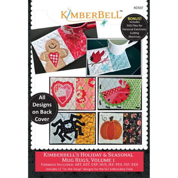 Machine Embroidery CD: Kimberbell's Holiday and Seasonal Mug Rugs, Vol.1