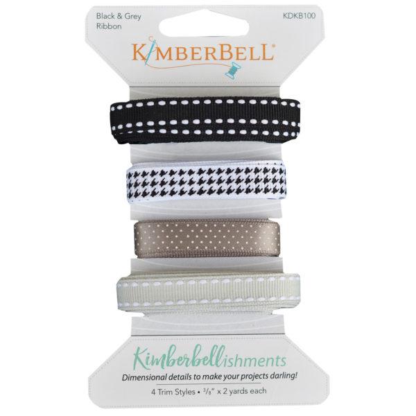 Black and Gray Ribbon Set