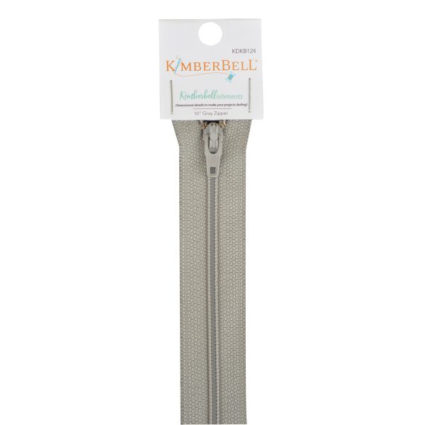 16-Inch Length Gray Zipper