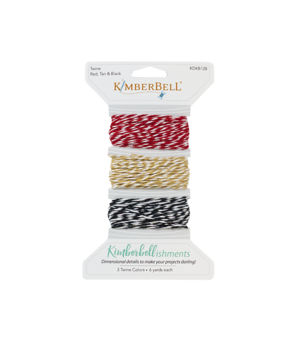 Kimberbell Twine - Red,Tan and Black