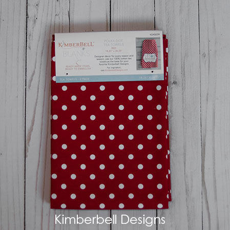 Polka Dot Tea Towels - Red - Kimberbell Designs
