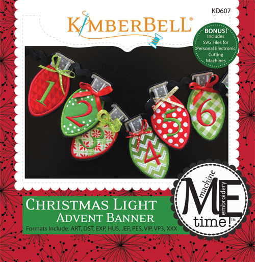 Christmas Light Advent Banner Machine Embroidery CD