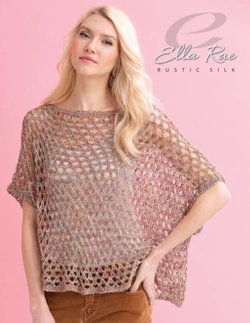 Ella Rae Rustic Silk Estelle Poncho