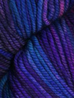Ella Rae - Lace Merino Chunky Hand Painted yarn Tone On Tone-Turquoise, Purple