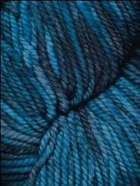 Ella Rae - Lace Merino Chunky Hand Painted yarn Electric Blue, Black