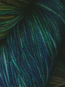 Lace Merino DK Hand Painted Greens, Blue