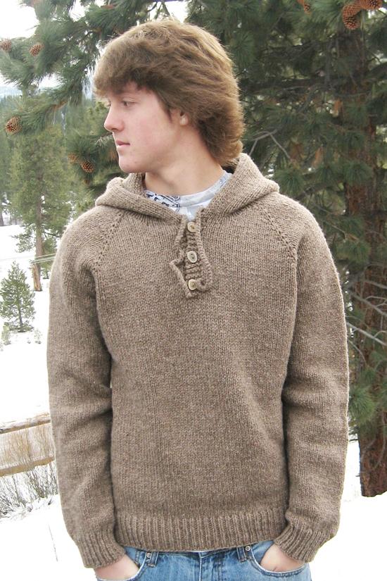 KPS 105 Neck Down Hooded Pullover for Men