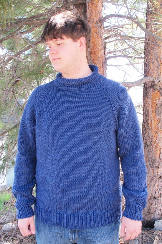 KPS 1110 Bulky Top Down Pullover for Men