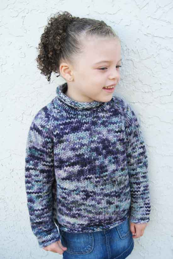 KPS 112 Children's Bulky Top Down Pullover