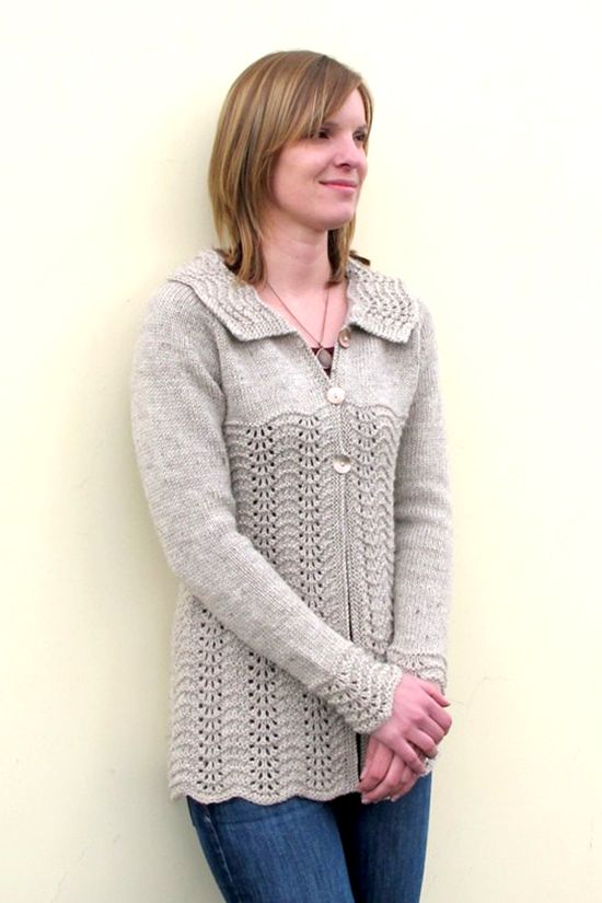 KPS 1307 Easy Lace Cardigan